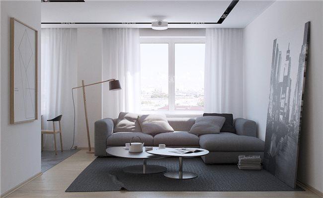 Современная квартира - гостиная