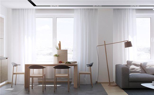 Современная квартира - столовая