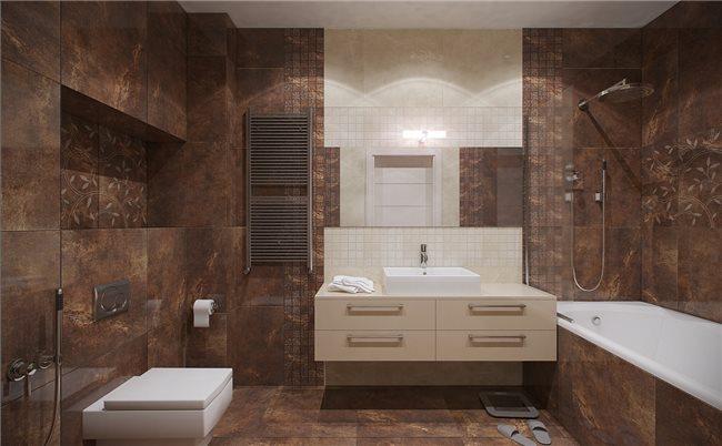 Современная квартира - ванная комната
