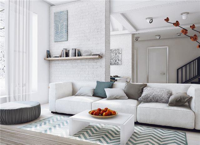 Стильный дом - гостиная