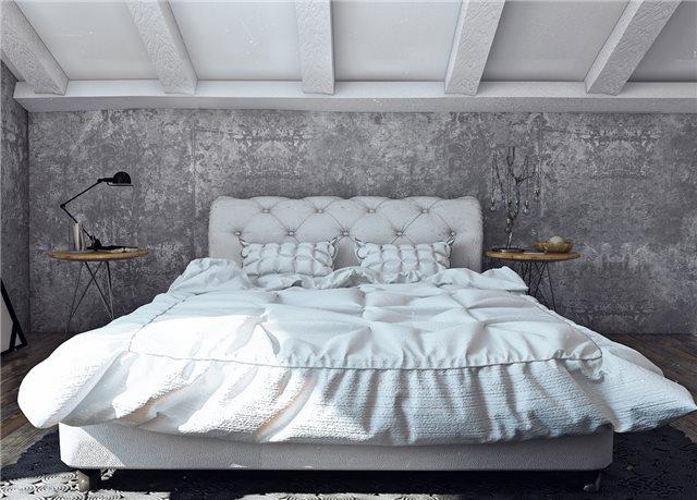спальная комната в стильном доме