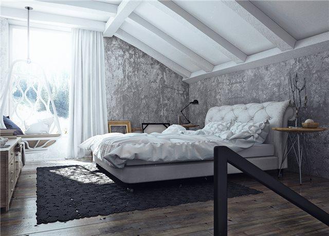 стильный дом - спальная комната