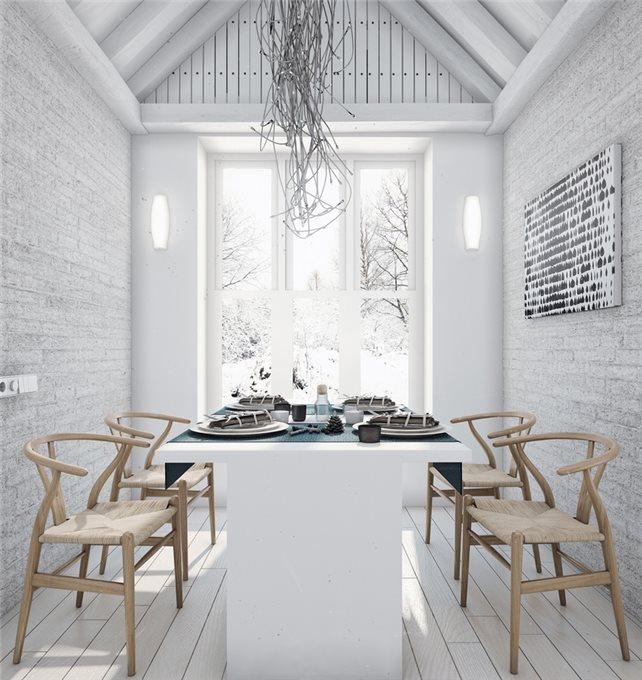 стильный дом - столовая комната