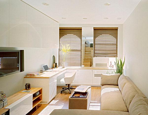 спальня в квартире студии