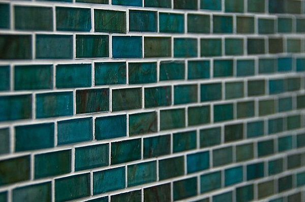Зелено-бирюзовая мозаика