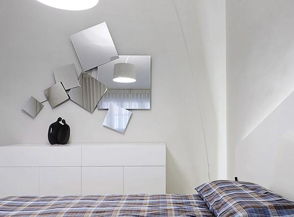 спальня в светлой квартире
