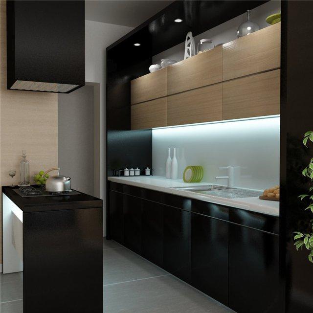 Маленькая черная кухонька