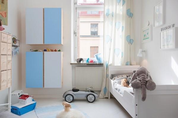 детская комната в трехкомнатной квартире с эркером