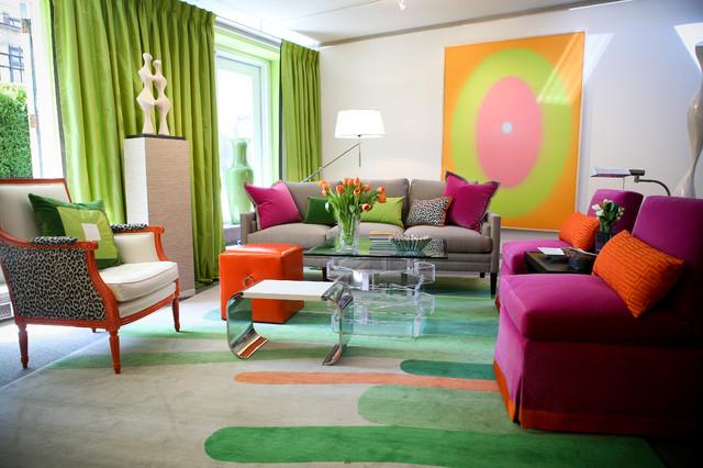 цветовые акценты в интерьере гостиной