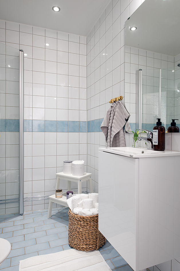 отремонтированая квартира 1930-х: ванная комната