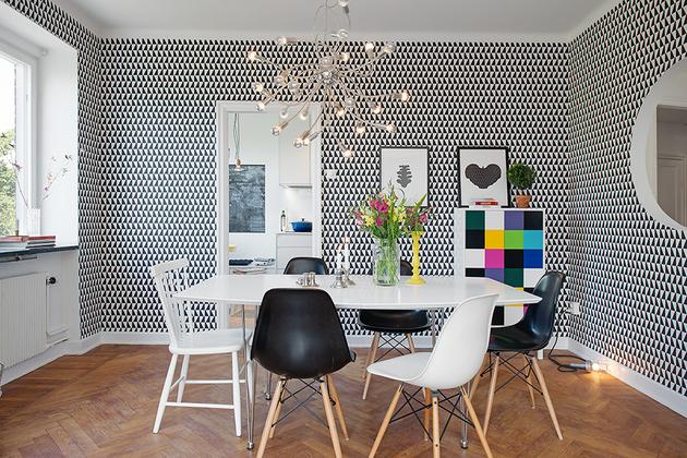 Фото квартиры после ремонта - веселая гостиная