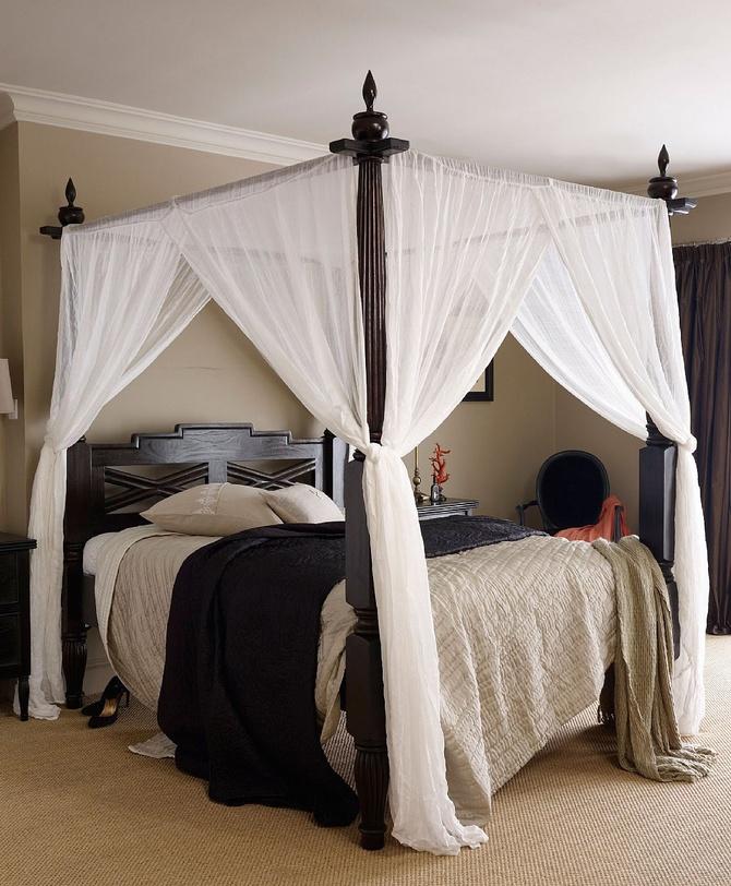 Кровати с балдахином - примеры  (2)