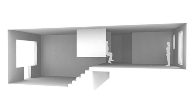 Трехмерный план квартиры студии