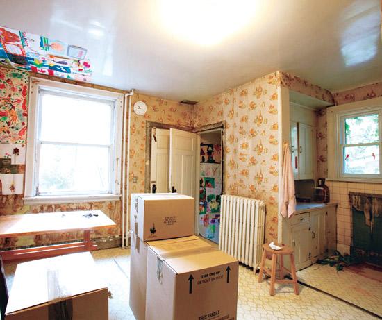 белая кухня до ремонта
