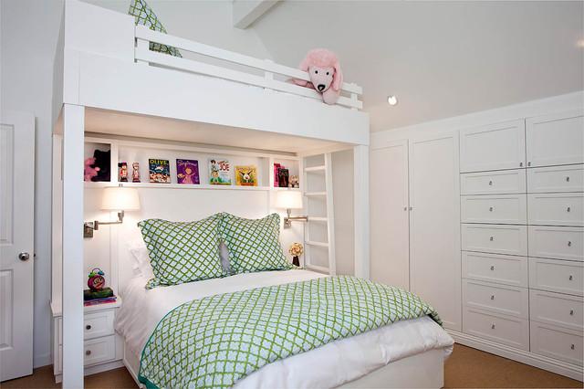 Детская кровать чердак без рабочей зоны