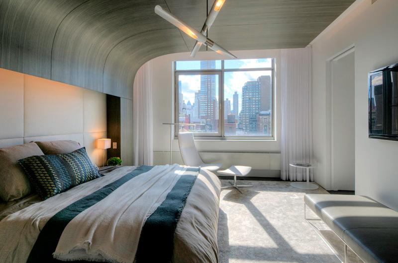 дизайн двухуровневых квартир - спальня
