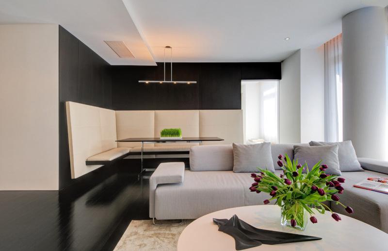 Двухуровневая квартира - интерьер гостиной