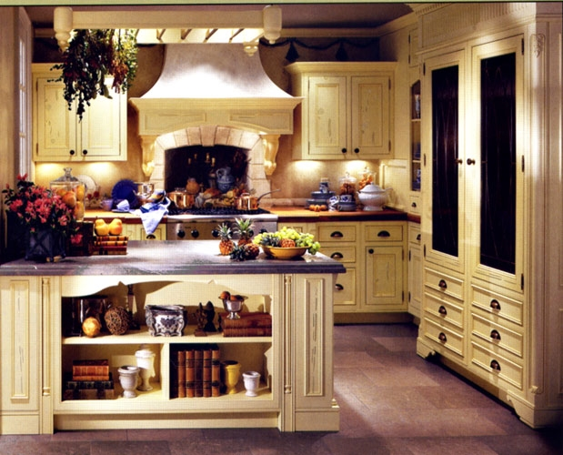 французский интерьер кухни фото 1