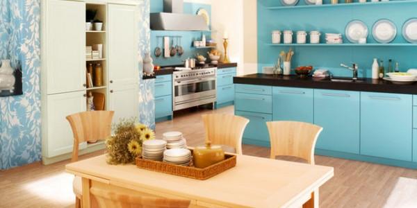 голубые кухни-9
