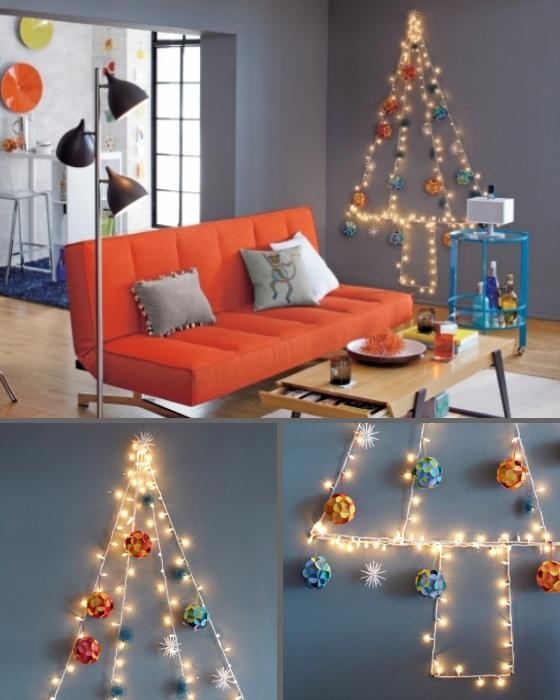 Альтернатива новогодней елке из гирлянд