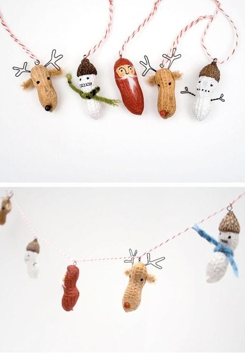 новогодняя елочная игрушка своими руками из арахиса