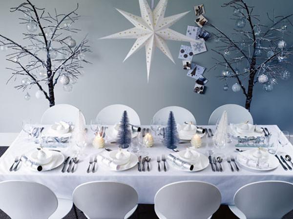 Сервировка праздничного стола - Зимняя сказка