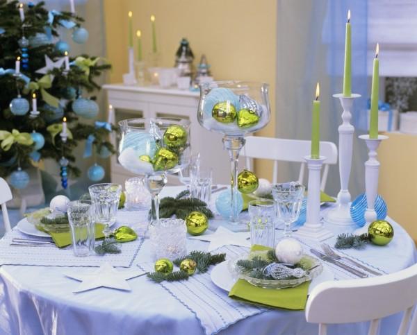 Украшение стола к новому году - Зимняя сказка