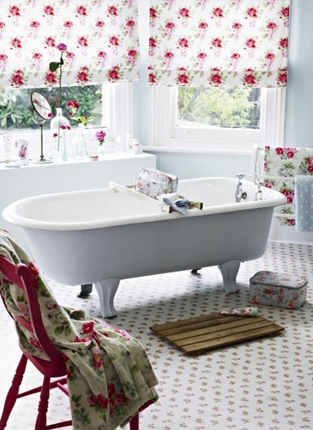 ванная в стиле шебби шик