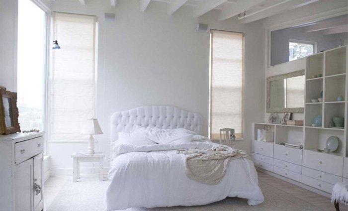 белая спальня в стиле шебби шик