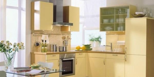 Светло желтые кухни (2)