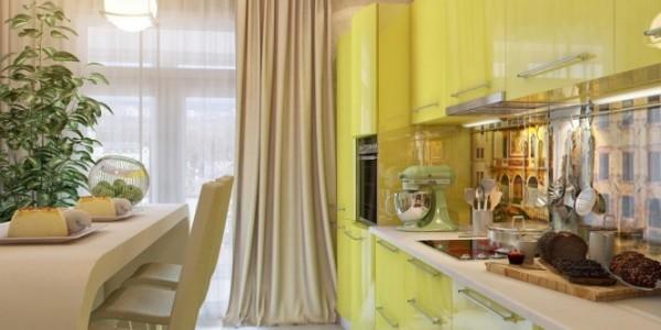 Светло желтые кухни (3)
