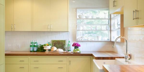 Светло желтые кухни (6)