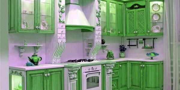 зеленые кухни-7
