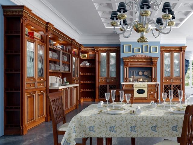 Кухня в стиле ампир