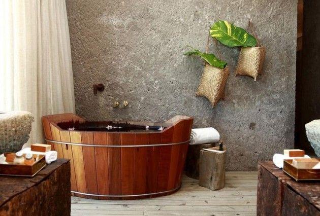 ванная из дерева на фото 10