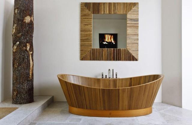 ванная из дерева на фото 3