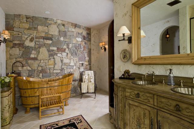 ванная из дерева на фото 1