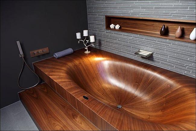 ванная из дерева на фото 19