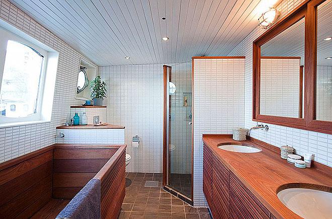 ванная из дерева на фото 12
