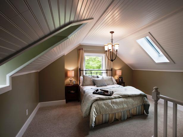 фото мансарды с реечным потолком