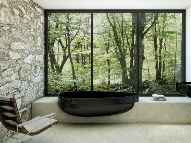 дизайнерский интерьер ванной