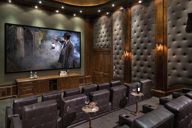 Обивка стен домашних кинотеатров - фото 5