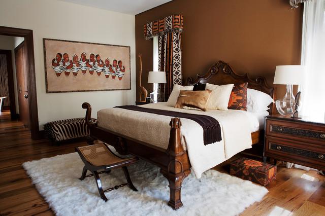 Африканский интерьер спальни