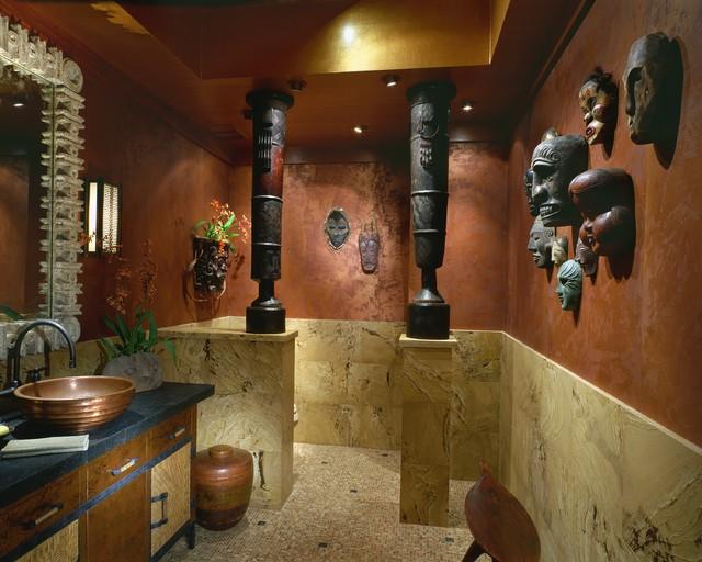 африканский стиль интерьера ванной
