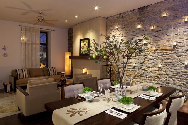 Камень в интерьере - идеи декора стен натуральным камнем