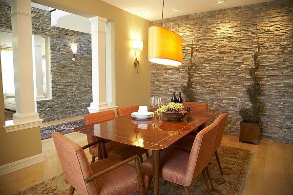 Отделка интерьера квартиры камнем