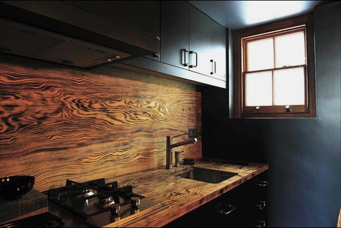 Фартук для кухни из дерева