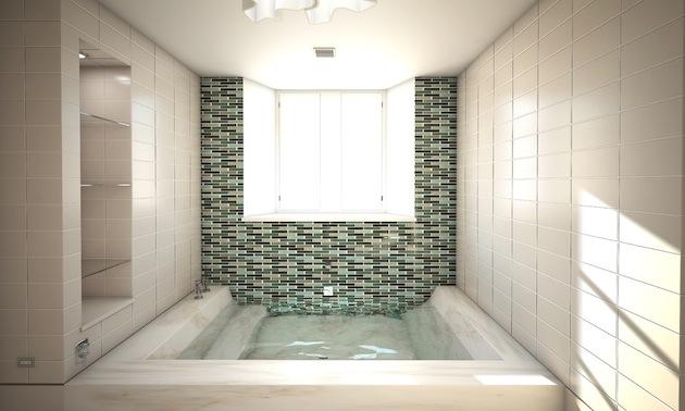 необычная ванна из натурального камня