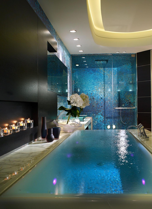 необычная ванна с переливом