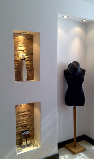 Интересная отделка ниши в стене